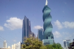 "F&F building, Panama City. This building is nicknamed ""The Screw"" - each floor is offset 6° from the adjacent floors"