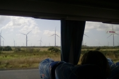 Windmill farm in the interior of Panama