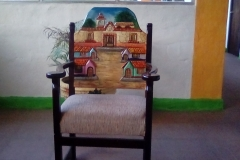 La Hacienda Hotel in Santiago, Panama - colorful painted chair