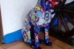 Ceramic sculpture at La Hacienda - there were many beautiful ceramic tiles at this hotel
