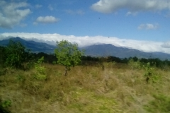 Approaching the mountains near Boquete